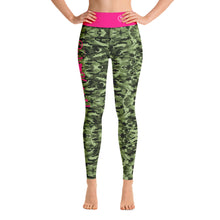 Load image into Gallery viewer, Green Saltwater Camo Yoga Leggings