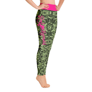 Green Saltwater Camo Yoga Leggings
