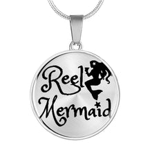 Load image into Gallery viewer, Reel Mermaid Necklace or Bracelet in Silver and Gold!
