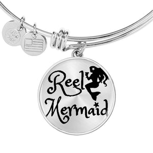 Reel Mermaid Necklace or Bracelet in Silver and Gold!