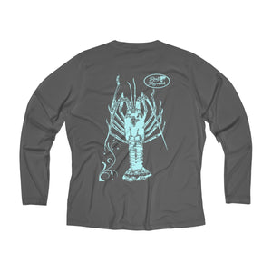 Reel Mermaid Spiny Lobster Long Sleeve Performance V-neck Tee