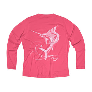 Reel Mermaid Sailfish Long Sleeve Performance V-neck Tee
