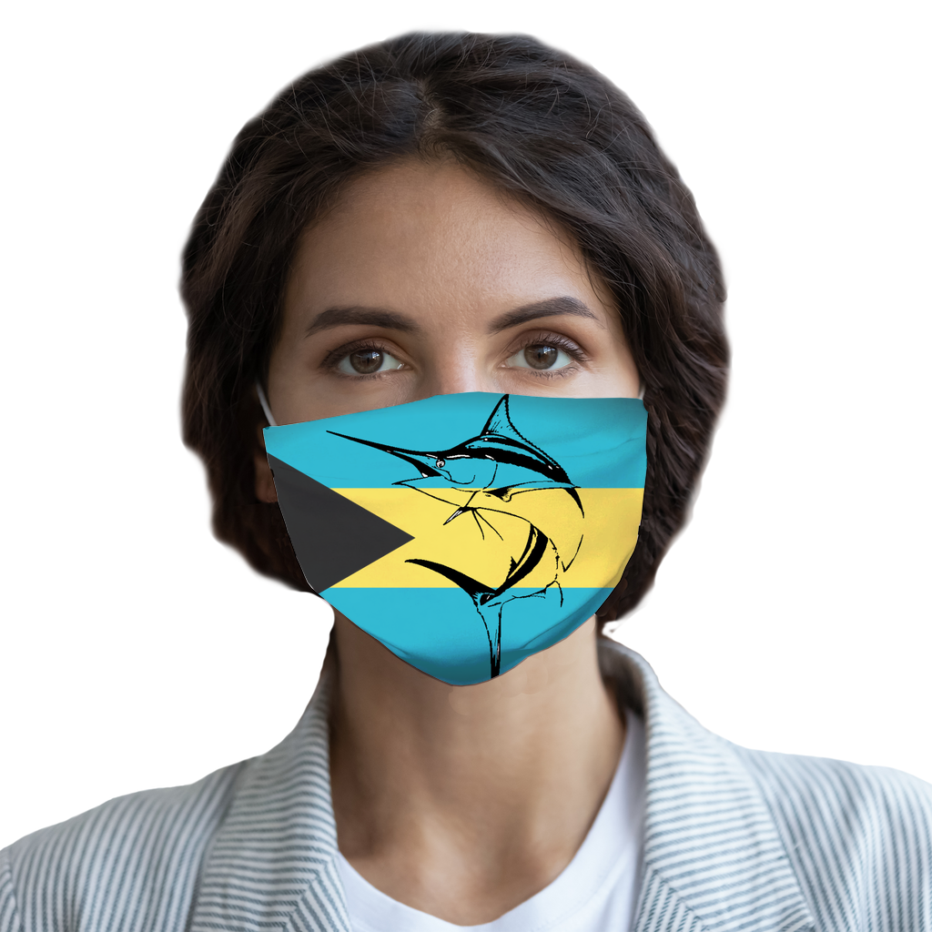 Marlin Bahamas Flag Face Mask