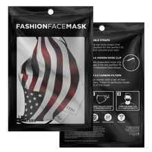 Load image into Gallery viewer, American Flag Face Adjustable Face Mask - Island Mermaid Tribe