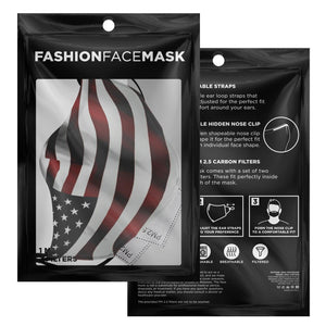 American Flag Face Adjustable Face Mask - Island Mermaid Tribe