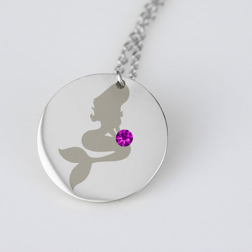 Mermaid Birthstone Charm