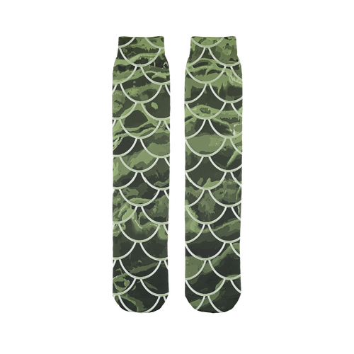 Mermaid Scale Camo Tube Socks