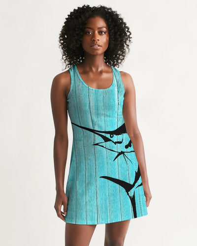 Marlin and Wood Grain Women's Racerback Dress