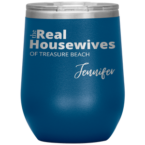 The Real Housewives Wine Tumbler with your location and name - Island Mermaid Tribe