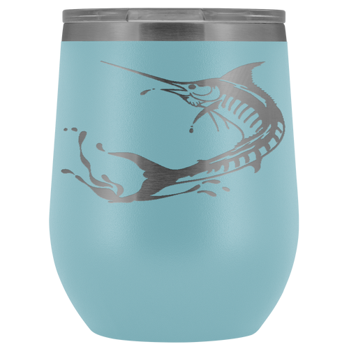Marlin Laser Engraved Wine Tumbler