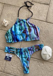 Abalone Print Athletic Style Top and Bottom (L/XL)