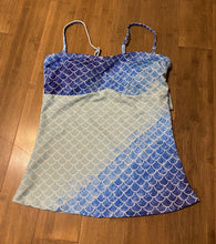 Load image into Gallery viewer, Ombré Blues Tankini adjustable straps (S) - Island Mermaid Tribe