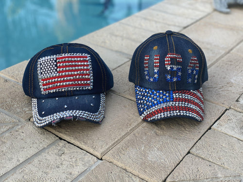 American Flag & USA hat
