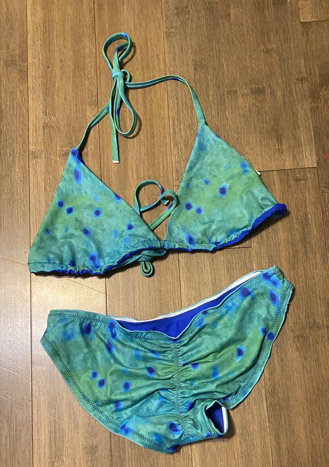 Mahi String Top and Scrunch Bottom (XS) - Island Mermaid Tribe