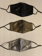 Load image into Gallery viewer, Sequins Mask with Pocket for Filter and adjustable straps