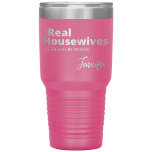 The Real Housewives 30 oz Tumbler with your location and name - Island Mermaid Tribe