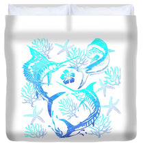 Load image into Gallery viewer, Marlin, Mahi, And Sailfish Blues - Duvet Cover