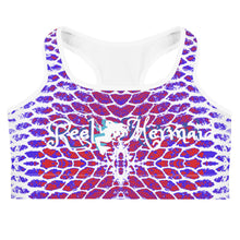 Load image into Gallery viewer, Patriotic Fish Scale Sports bra