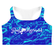 Load image into Gallery viewer, Royal Mermaflage Sports bra