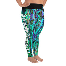 Load image into Gallery viewer, Reel Mermaid Abalone Print Plus Size Leggings