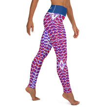 Load image into Gallery viewer, Patriotic Fish Scale Yoga Leggings