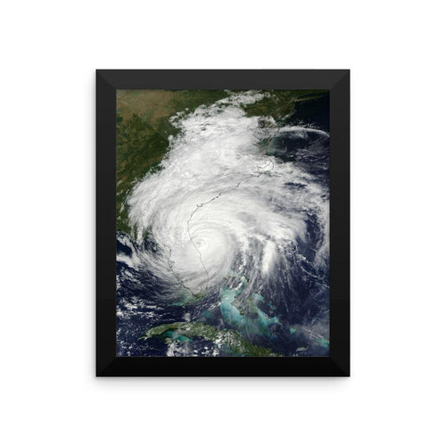 Framed Hurricane Matthew poster