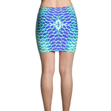 Load image into Gallery viewer, Blue Fish Scale Mini Skirt - Island Mermaid Tribe