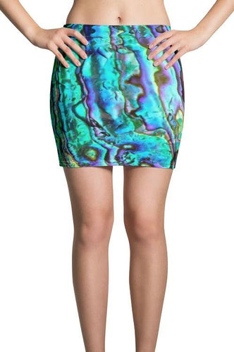Abalone Print Mini Skirt - Island Mermaid Tribe