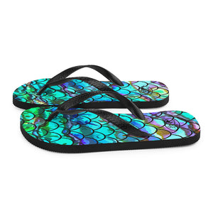 Mermaid Blues Flip-Flops