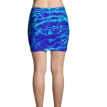 Load image into Gallery viewer, Royal Mermaflage Mini Skirt