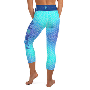 Ombre Blues Reel Mermaid Capri Leggings