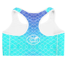 Load image into Gallery viewer, Ombre Blues Sports bra