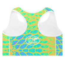 Load image into Gallery viewer, Yellow Tail Padded Sports Bra