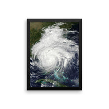 Load image into Gallery viewer, Framed Hurricane Matthew poster