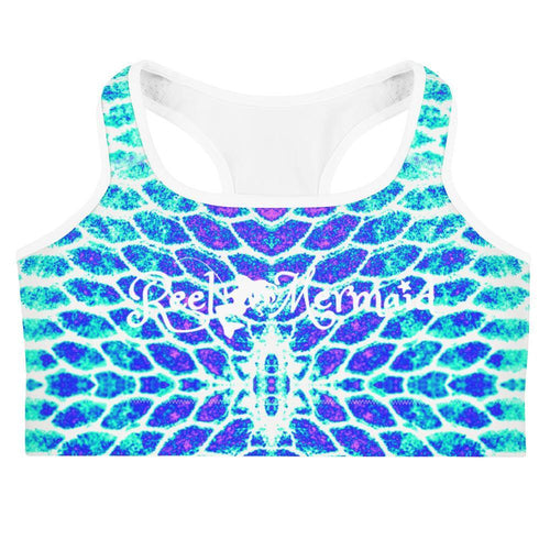 Blue Fish Scale Sports bra