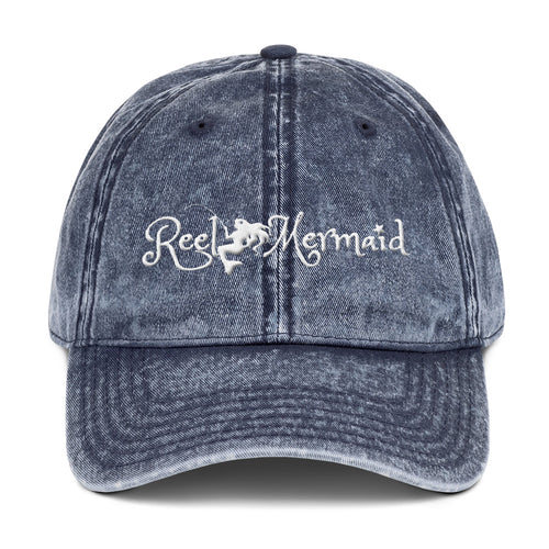 Reel Mermaid Vintage Cotton Twill Hat