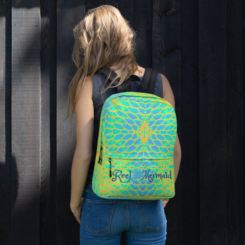 Yellow Tail Reel Mermaid Backpack