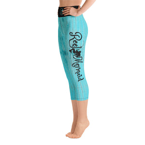 Marlin and Wood Grain Capri Leggings