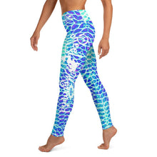 Load image into Gallery viewer, Blue Scale Yoga Leggings - Island Mermaid Tribe
