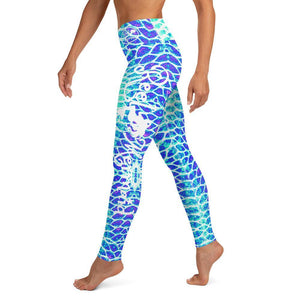 Blue Scale Yoga Leggings