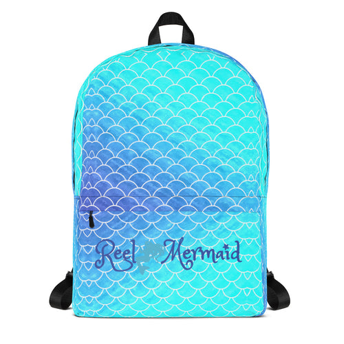 Ombre Blues Reel Mermaid Backpack