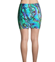 Load image into Gallery viewer, Abalone Print Mini Skirt - Island Mermaid Tribe
