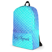 Load image into Gallery viewer, Ombre Blues Reel Mermaid Backpack