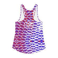Load image into Gallery viewer, Patriotic Fish Scale Women's Racerback Tank