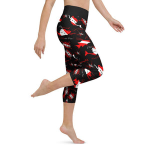 Dive Mermaid Yoga Capri Leggings