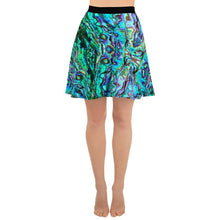 Load image into Gallery viewer, Abalone Print Skater Skirt
