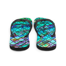 Load image into Gallery viewer, Mermaid Blues Flip-Flops