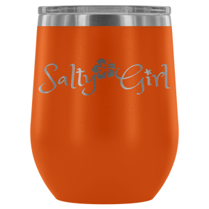 Salty Girl Stainless Steel Wine Tumbler (12 Color Options)