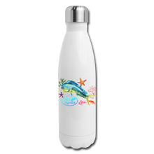 Load image into Gallery viewer, Reel Mermaid Glitter Insulated Stainless Steel Water Bottle - white