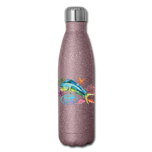 Load image into Gallery viewer, Reel Mermaid Glitter Insulated Stainless Steel Water Bottle - pink glitter